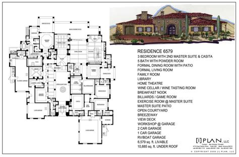 10000 square foot house plans floor plans