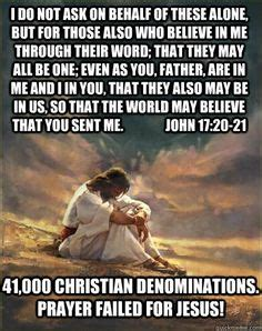 Prayer Meme - debunking christianity prayer failed for jesus