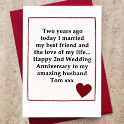 personalised 2nd wedding anniversary card by arnott cards gifts notonthehighstreet