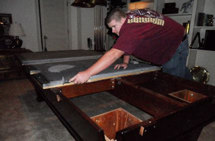 pool table installation blue fox billiards bar and grill