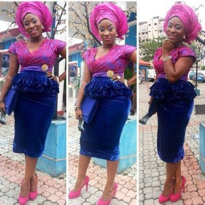 naija velvet and lace styles asoebi 2 http maboplus com lace and velvet aso ebi