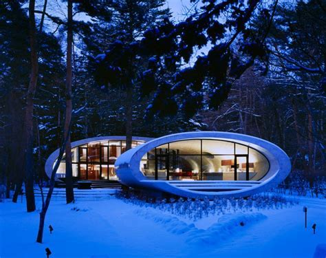 Shell House in Karuizawa by Kotaro Ide, Organic Home in