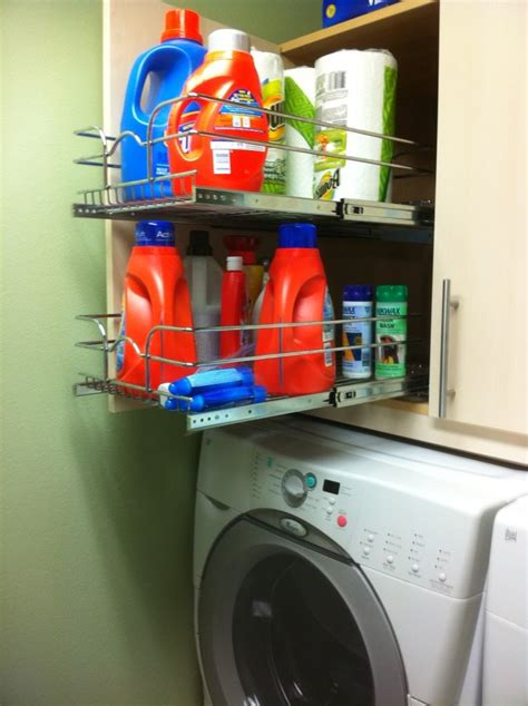 cabinets above washer dryer a ikea base cabinet with a pull out system from