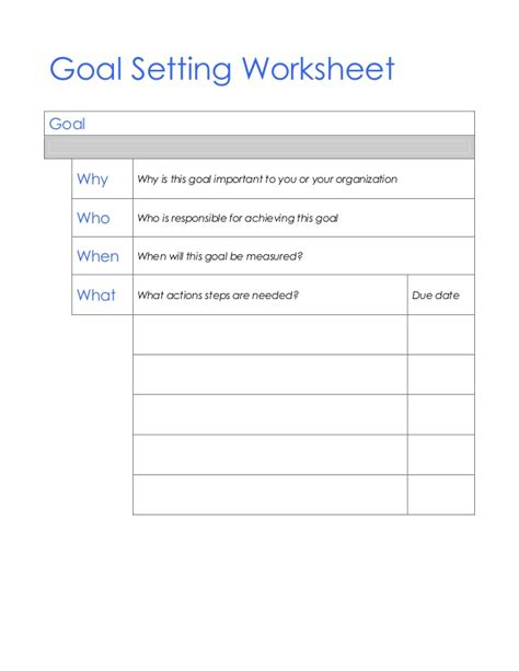 smart goals worksheet pdf lesupercoin printables worksheets