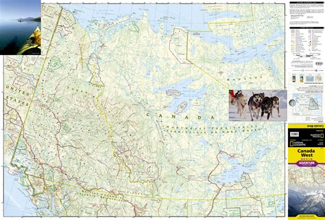 map of canada west wegenkaart landkaart 3113 adventure map canada west