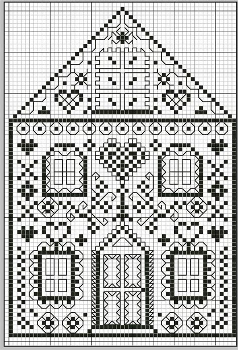 house pattern cross stitch stitches house and cross stitch on pinterest