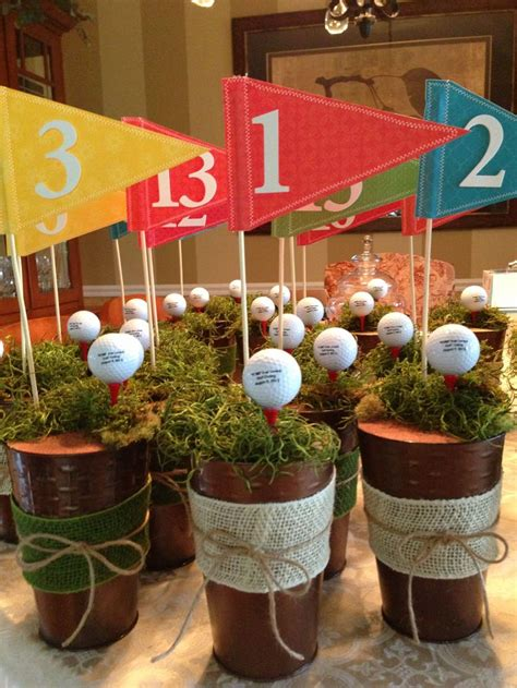 themed golf events centerpieces i made for a charity golf outing golf