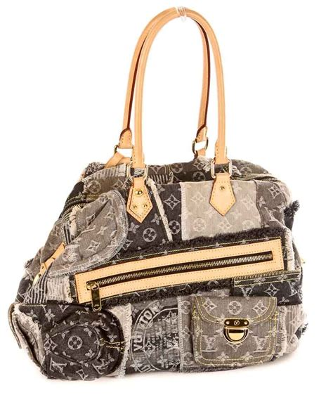 Louis Vuitton Patchwork - louis vuitton grey denim patchwork bowly bag acceptable