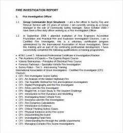 investigation report template sle investigation report template 9 free documents