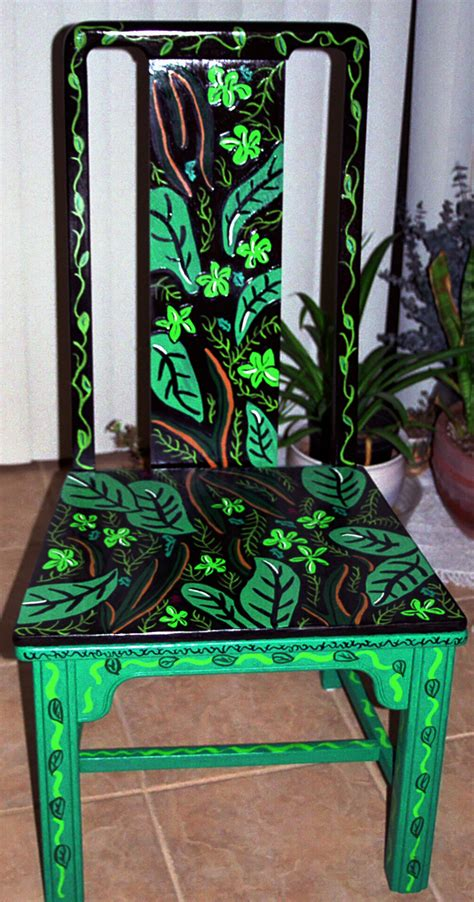 Painted Armchair by Personal Artwork Painted Chairs By Carrie Butler At