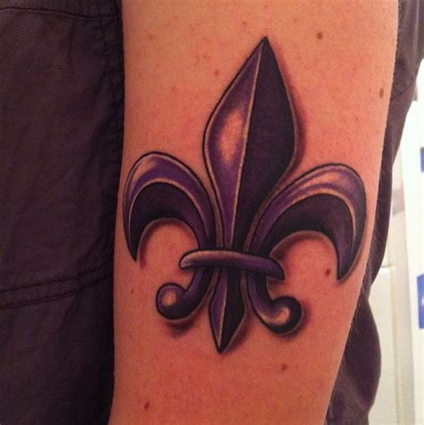 tr st tattoos designs for girl purple fleur de lis inspired by the saints row