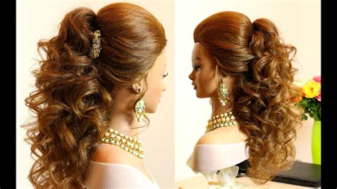 curly bridal hairstyle for hair tutorial