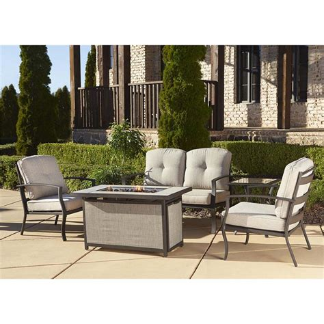 outdoor 5 piece patio fire pit conversation set 88530dbtfe