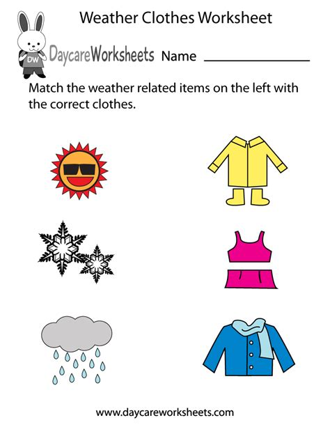 Weather Worksheets For Preschool