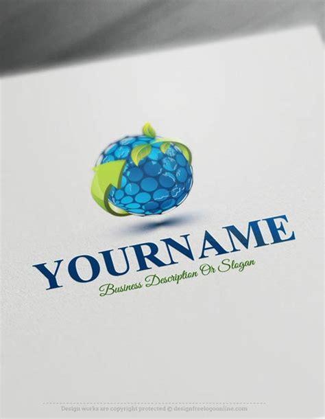 logomaker  eco globe logo template