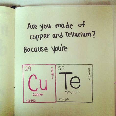 daily quotes are you made of copper and tellurium