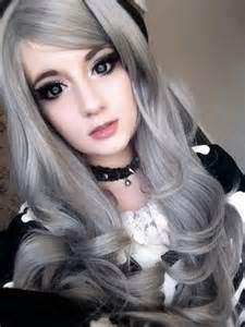do like grey hair like a doll cute hair s pinterest