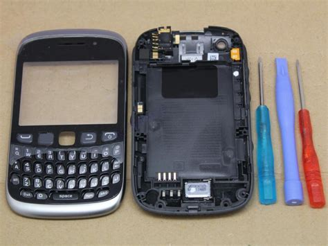 Casing Hp Bb Curve 9320 oem black housing cover for blackberry curve 9320 fascia faceplate new ebay