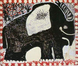 wicker elephant tisch dennis matthews painting william l hawkins