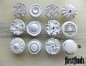 12 misfit lg shabby chic white distressed knobs kitchen