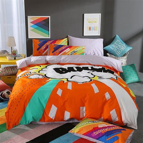 Orange Pink And Turquoise Bedding by Orange Turquoise Black And White Bright Colorful