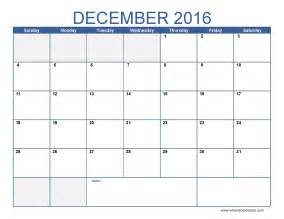 December Calendar Templates by 2016 December Blank Printable Calendar Templates
