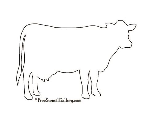 cow silhouette stencil future home pinterest a cow