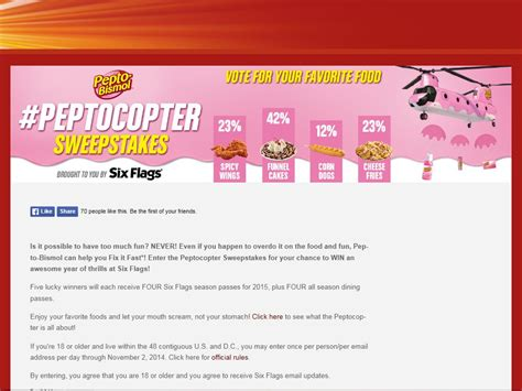 The Sweepstakes - the peptocopter sweepstakes