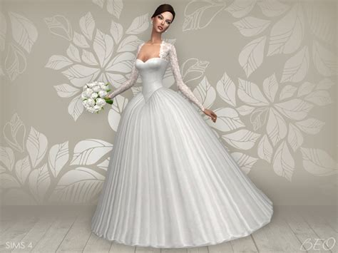 Wedding Dress The Sims 4 by My Sims 4 Cynthia Wedding Dress By Beo
