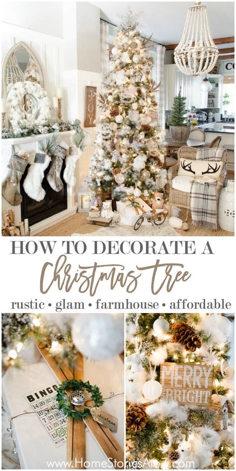 how to properly decorate a christmas tree 10 tips on how to decorate a tree rustic glam