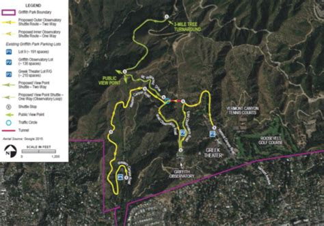 griffith park map new griffith park traffic plan promising but flawed