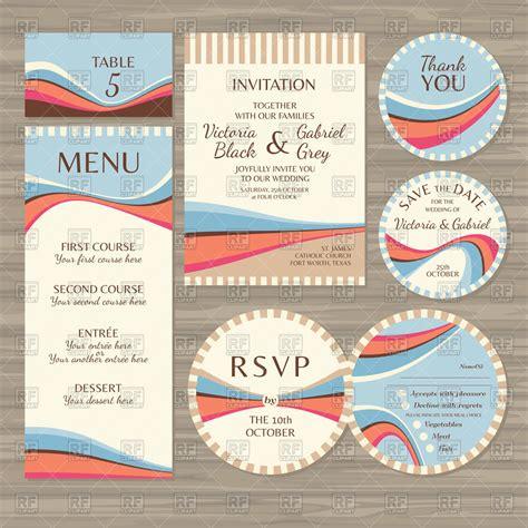 Wedding Menu Clip by Templates Of Retro Wedding Cards Invitations Menu And