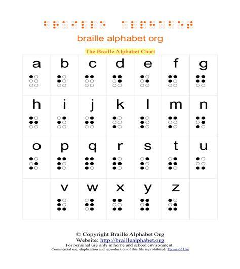 Letter Chart braille alphabet chart braille alphabet org