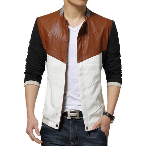 design white jacket cool design white pu leather jacket men 2016 new autumn