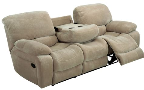 Sofa Console by Recliner Sofa With Console Kayde Console Recliner Sofa