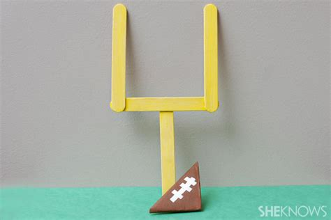 How To Make A Paper Football Field Goal - football field arts and crafts