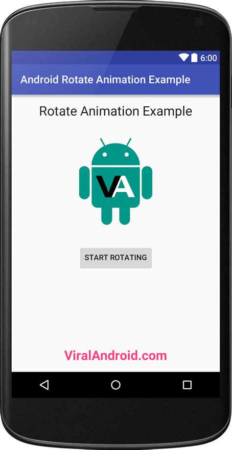 how to rotate on android android rotate animation exle viral android tutorials exles ux ui design