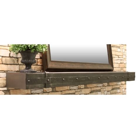 Metal Fireplace Mantel Shelf by Hammered Steel Fireplace Mantel Shelf