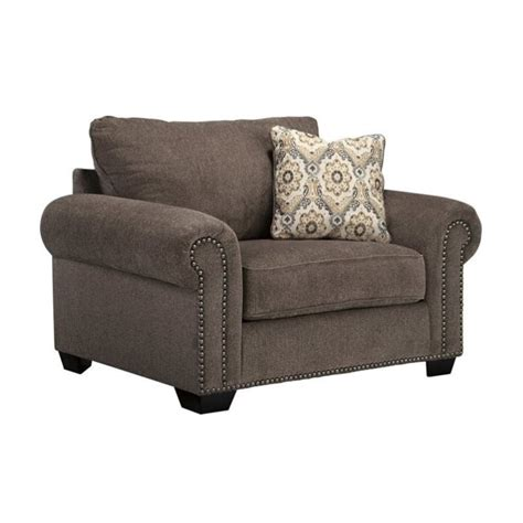 Large Accent Chair Emelen Oversized Fabric Accent Chair In Alloy 4560023