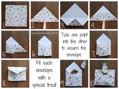 How To Fold Paper Into A Small Envelope - food shared easy advent calendar