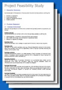 free project feasibility study template toolkitcafe