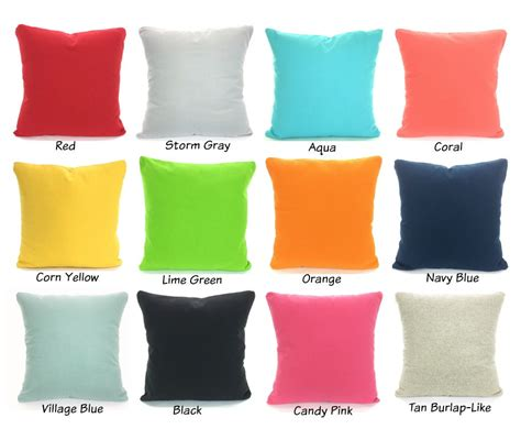 pillow color for solid color pillow covers cushions decorative throw pillows