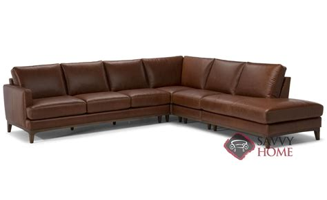 large leather sectional with chaise bevera leather chaise sectional by natuzzi is fully