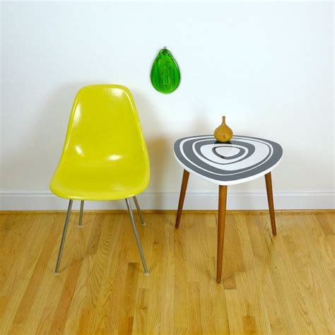 mid century accent table mcm modern jetsons space age cool space age mid century modern style end table handmade