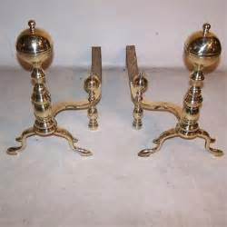 vintage fireplace accessories pair of andirons c 1800 and83 from antique andirons
