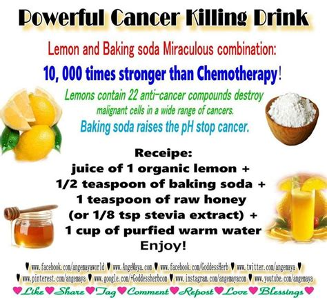 Detox With Lemon Juice And Baking Soda by 1 Organic Lemon Half Tsp Of Baking Soda 1 Tsp Honey