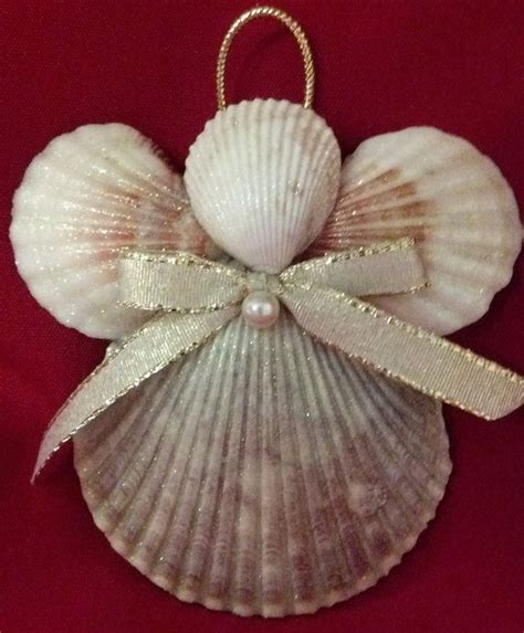 seashell angel christmas ornament beach decor nautical