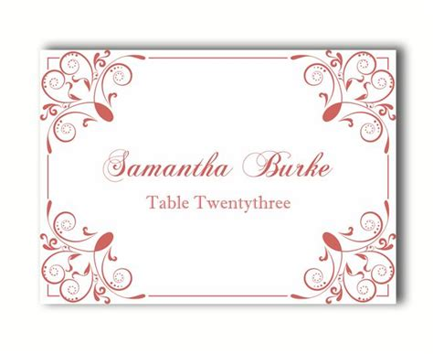 Template To Print Wedding Place Cards by Place Cards Wedding Place Card Template Diy Editable