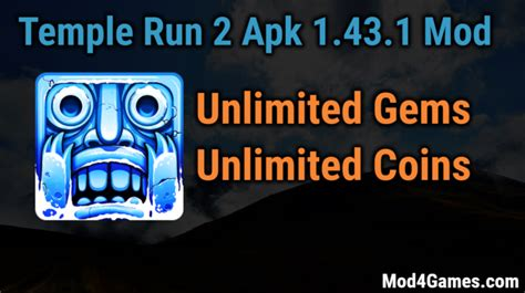 temple run 2 v1 43 1 mod apk unlimited money temple run 2 1 43 1 hacked mod apk free archives mod4games