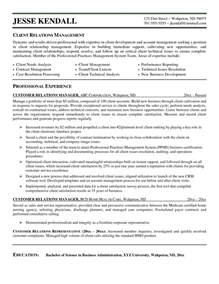 Sle Cover Letter For Client Relationship Manager by Relationship Management Resume Exle